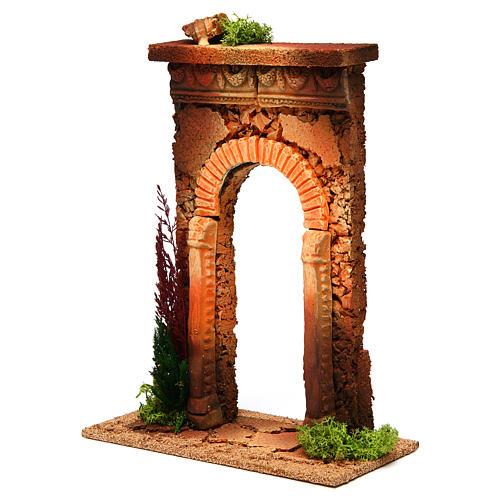 Arco belén con columnas y ladrillos 2
