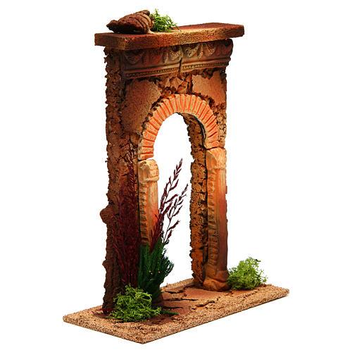 Arco belén con columnas y ladrillos 3