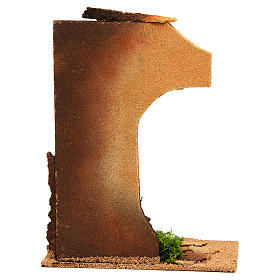 Nativity setting, half arch with bricks and flowers s4