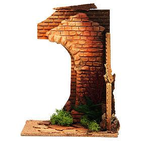 Ruines et fleurs miniature crèche Noel s1