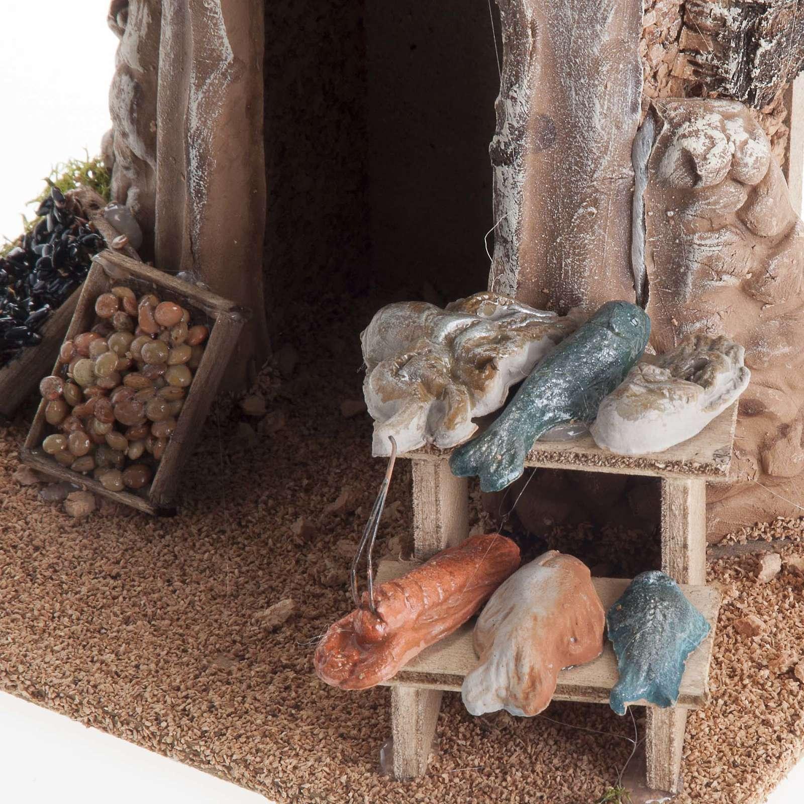 Poissonnerie miniature crèche Noel 4