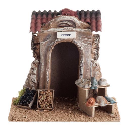 Poissonnerie miniature crèche Noel 1