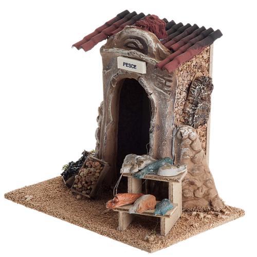 Poissonnerie miniature crèche Noel 5