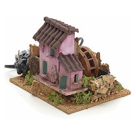 Nativity accessory, electric watermill 14x17x14 cm s1