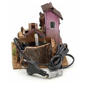 Nativity accessory, electric watermill 14x17x14 cm s4
