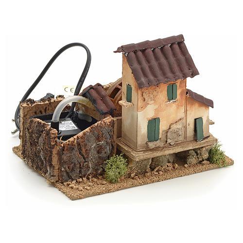Nativity accessory, electric watermill 14x17x14 cm 2