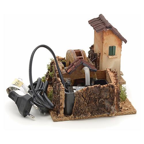 Nativity accessory, electric watermill 14x17x14 cm 3
