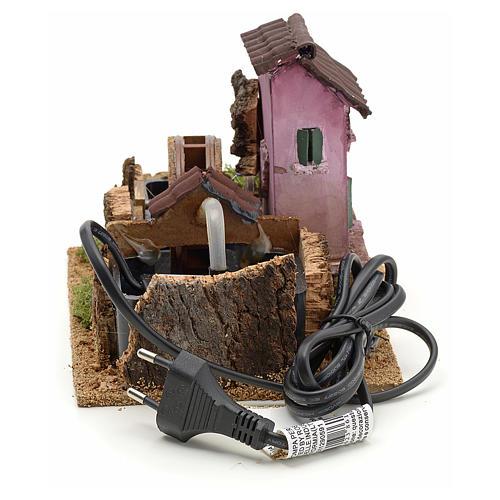 Nativity accessory, electric watermill 14x17x14 cm 4
