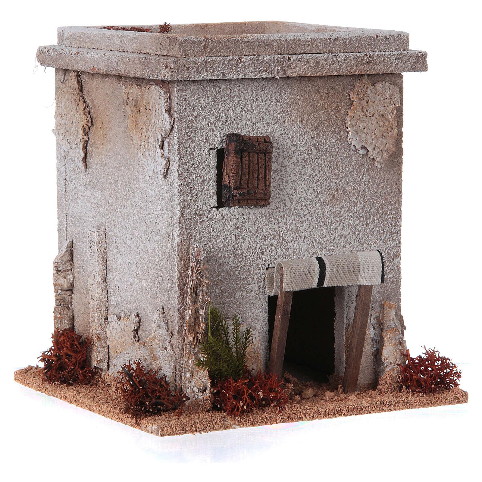 Mini maison arabe simple pour crèche Noel 4