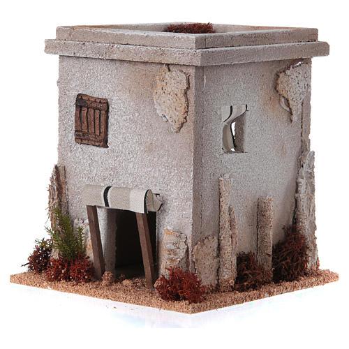 Mini maison arabe simple pour crèche Noel 2