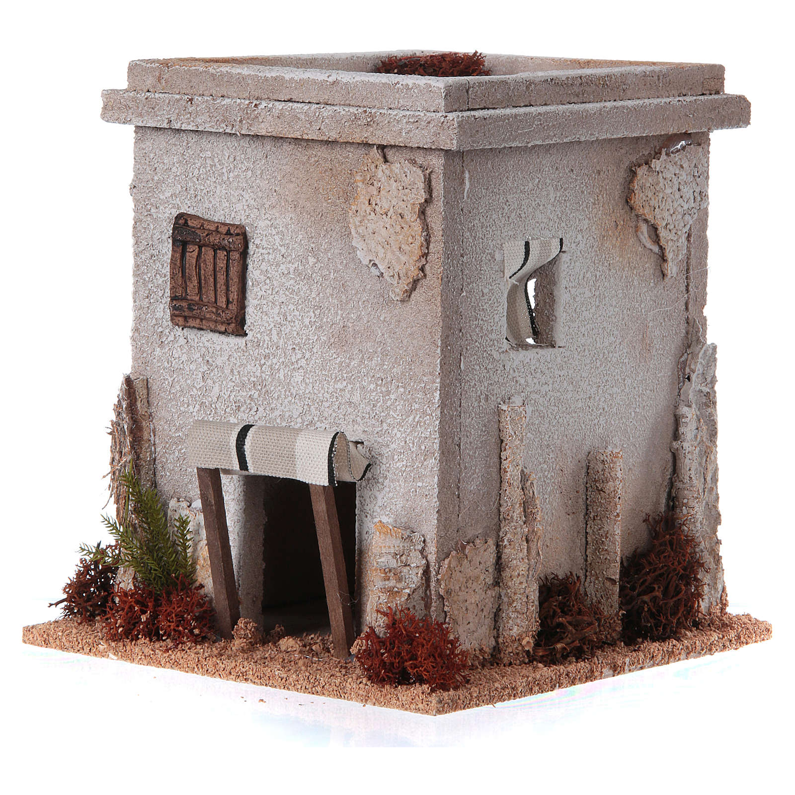Nativity setting, simple Arabian house 4