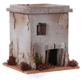 Nativity setting, simple Arabian house s3