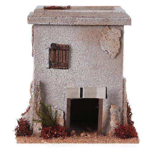 Nativity setting, simple Arabian house 1