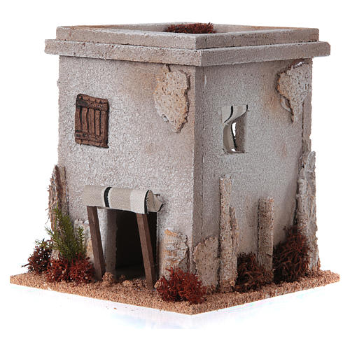Nativity setting, simple Arabian house 2