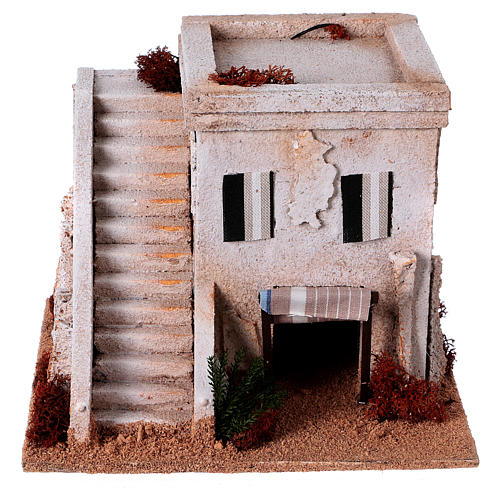 Nativity setting, Arabian house with stairs 1