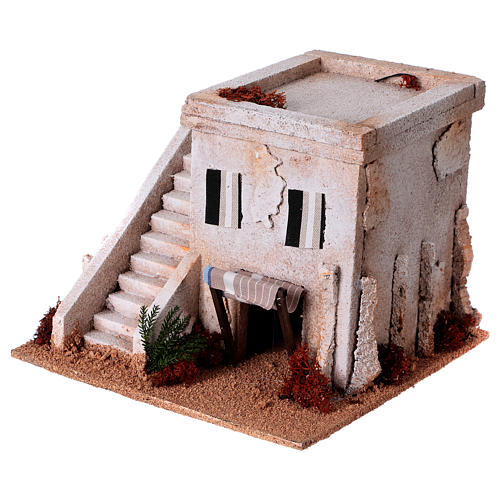 Nativity setting, Arabian house with stairs 2