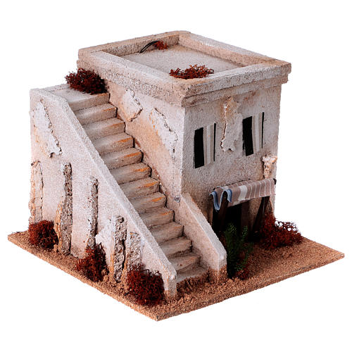 Nativity setting, Arabian house with stairs 3