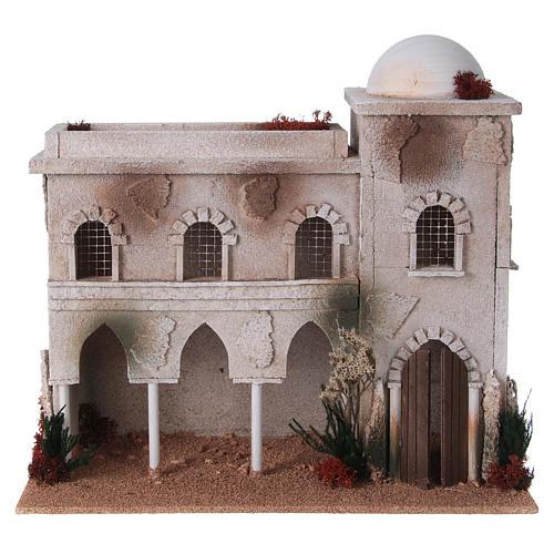 Casa araba con cupola e archi presepe 1