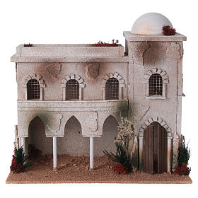 Nativity setting, Arabian house with dome and arches s1