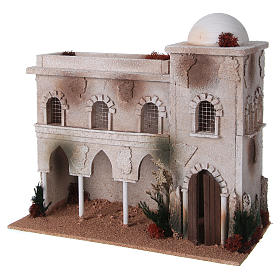 Nativity setting, Arabian house with dome and arches s2