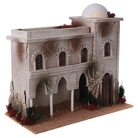Nativity setting, Arabian house with dome and arches s3