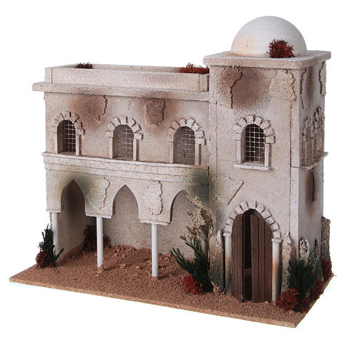 Nativity setting, Arabian house with dome and arches 2