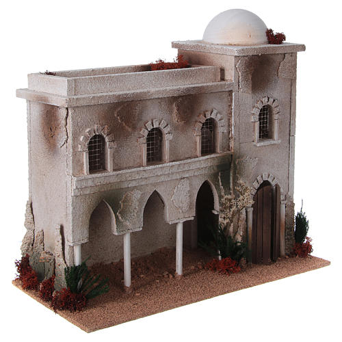 Nativity setting, Arabian house with dome and arches 3