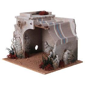 Nativity scene accessory, arabic-style hut s2