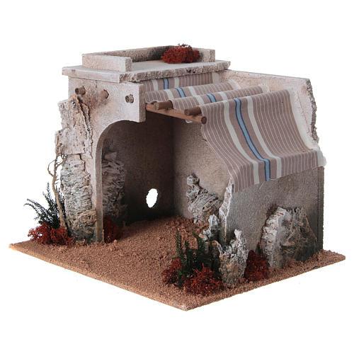 Nativity scene accessory, arabic-style hut 2