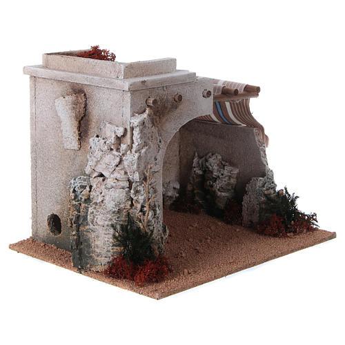 Nativity scene accessory, arabic-style hut 3