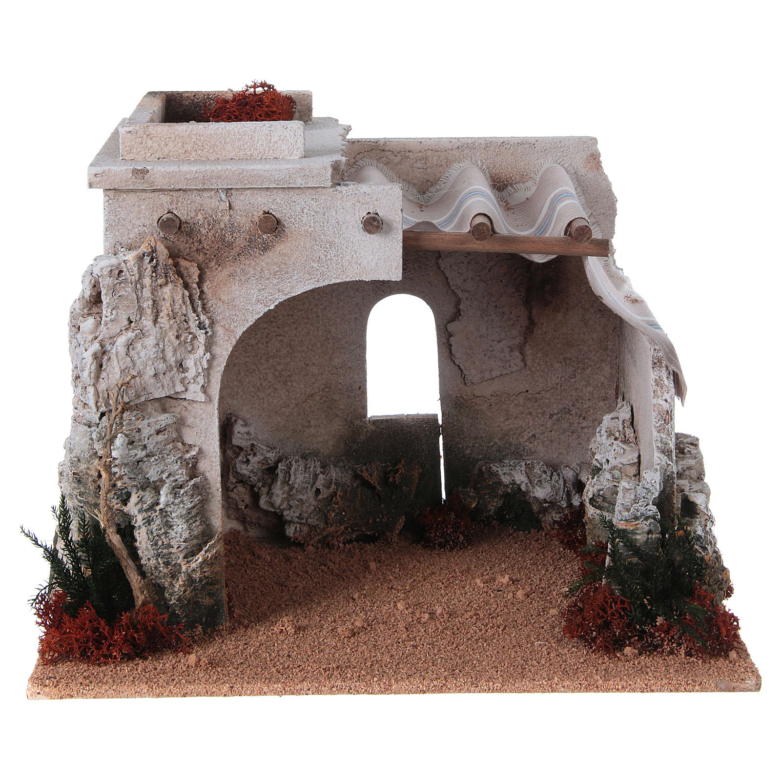 Nativity scene accessory, arabic-style hut 4