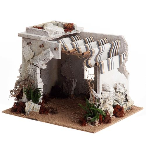 Nativity scene accessory, arabic-style hut 1