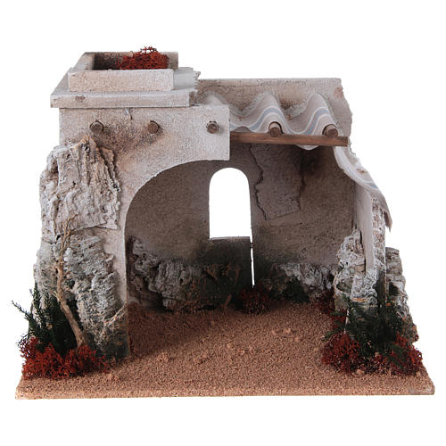 Nativity scene accessory, arabic-style hut 1