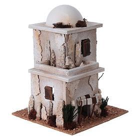 Casa araba doppia con cupola per presepe s3