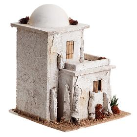 Nativity setting, double Arabian house with dome s4