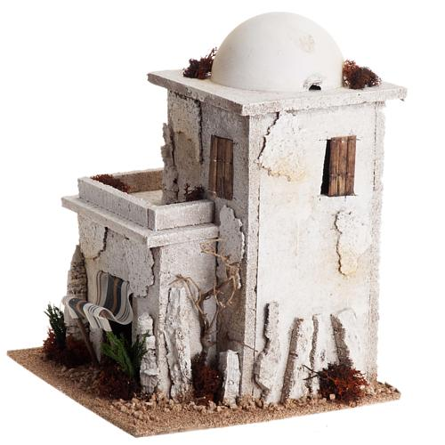 Nativity setting, double Arabian house with dome 5