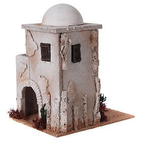 Nativity setting, minaret with dome and stairs s3