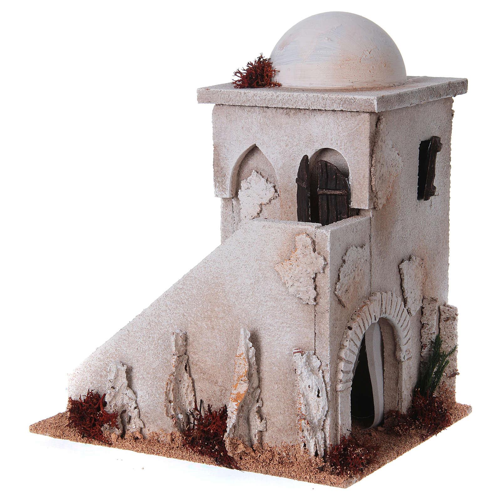 Minaret en miniature avec coupole, échelle pour crè 4