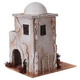 Minaret z kopułą i schodkami do szopki s3