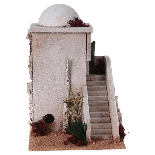 Minaret z kopułą i schodkami do szopki 2