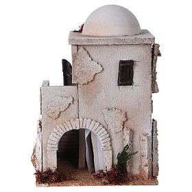 Ambientações para Presépio: lojas, casas, poços: Casa estilo árabe com cúpula e escada para presépio