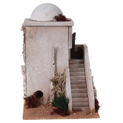 Nativity setting, minaret with dome and stairs 2
