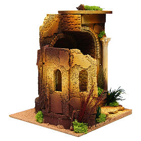 Nativity setting, Roman temple, antique style with arch s3
