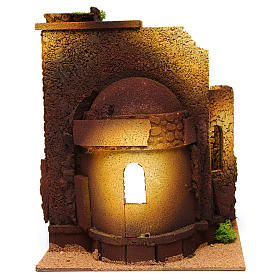 Nativity setting, Roman temple, antique style with arch s4