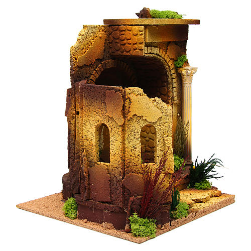 Nativity setting, Roman temple, antique style with arch 3