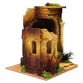 Temple romain en arc pour crèche s3