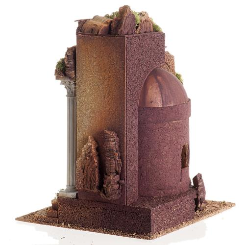 Nativity setting, Roman temple, antique style with arch 8