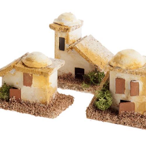Mini maisons arabes pour crèche Noel 2