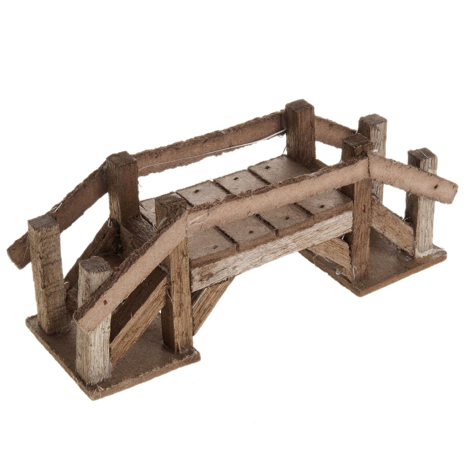 Ponte legno scuro presepe 4