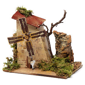 Nativity accessory, electric windmill with sheeps s2